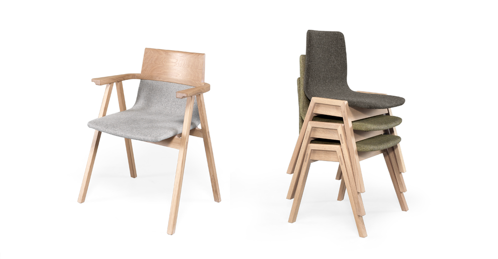 PENSIL has a light design but a solid and comfortable structure. Its upholstered seat can be totally customized, allowing you to change your decoration anytime.