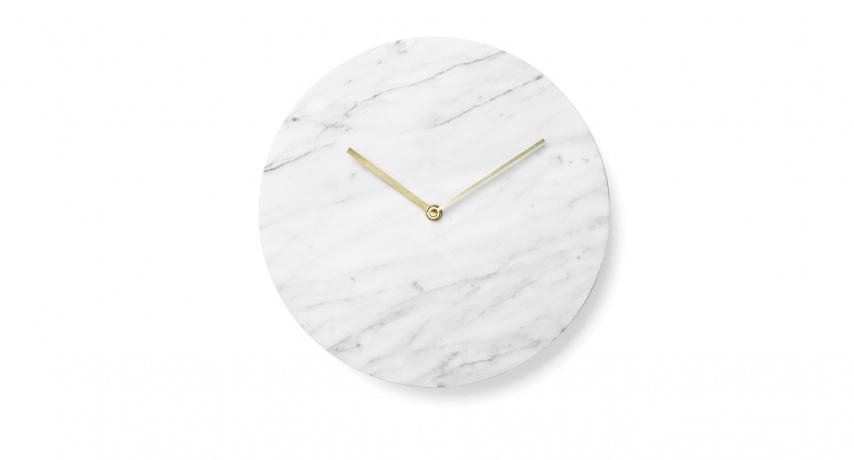 2. NORM MARBLE Wall clock by MENU