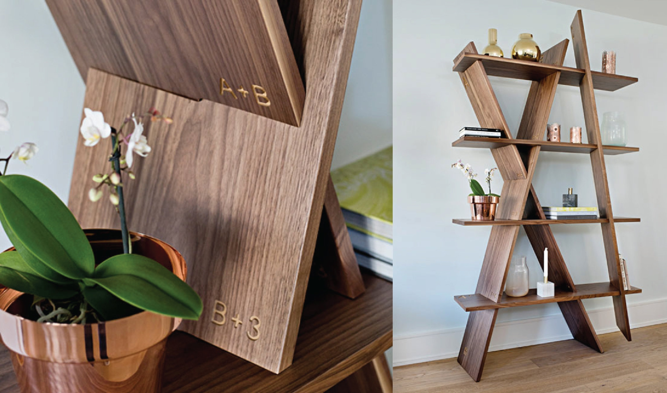 Besides its original design,  XI bookshelf  from WEWOOD can be also assembled very easily without tools or screws.