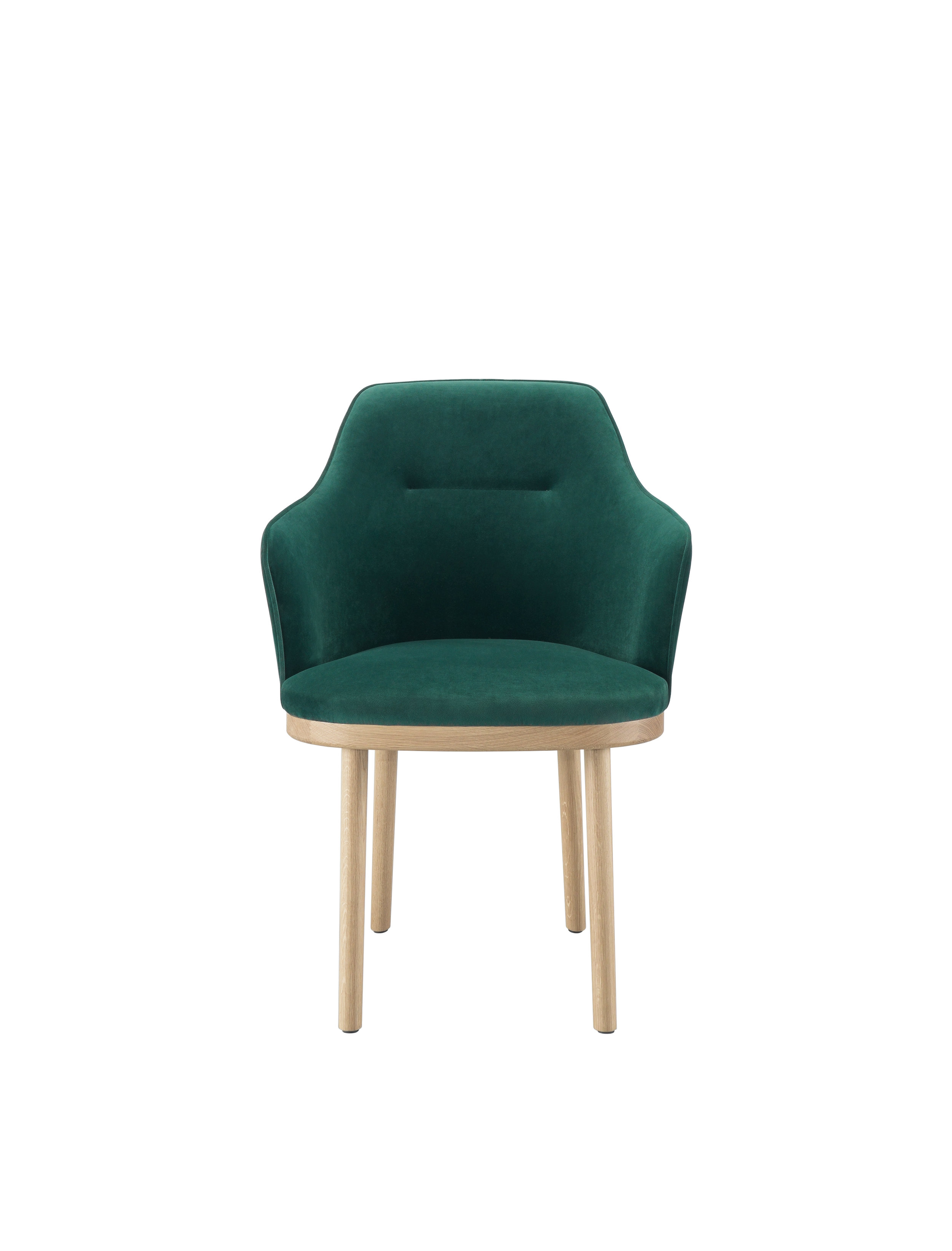 Armchair with wood structure