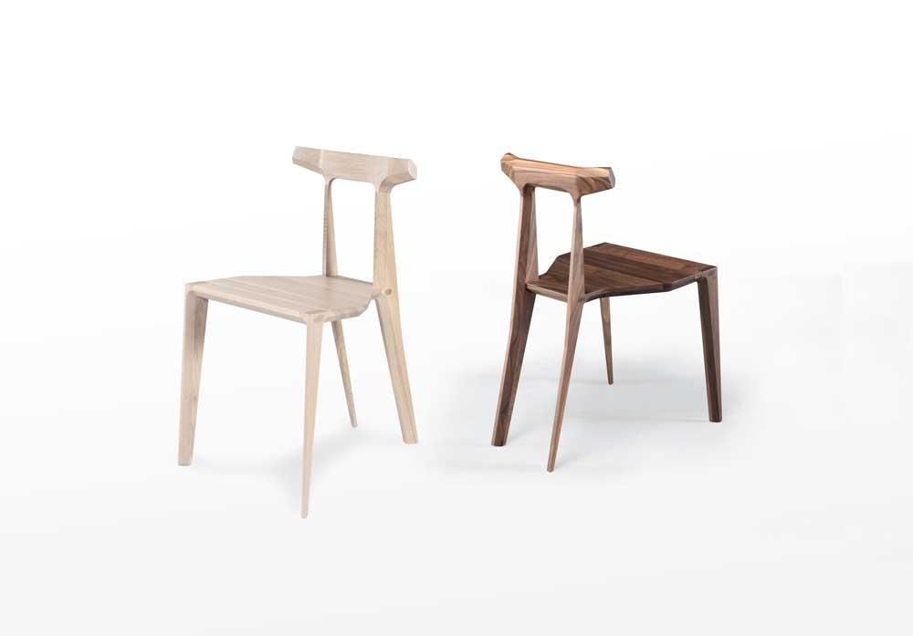 Oak and Walnut Chairs
