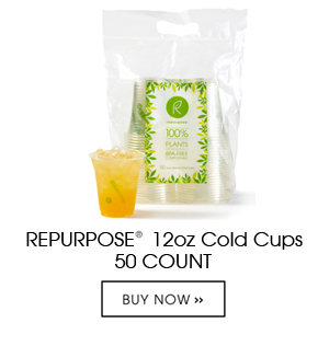 Repurpose Cold Cups are made 100% from plants, BPA free, renewable and compostable. Each unit contains 50 12oz clear cold cups. Can be used for cold liquids only.