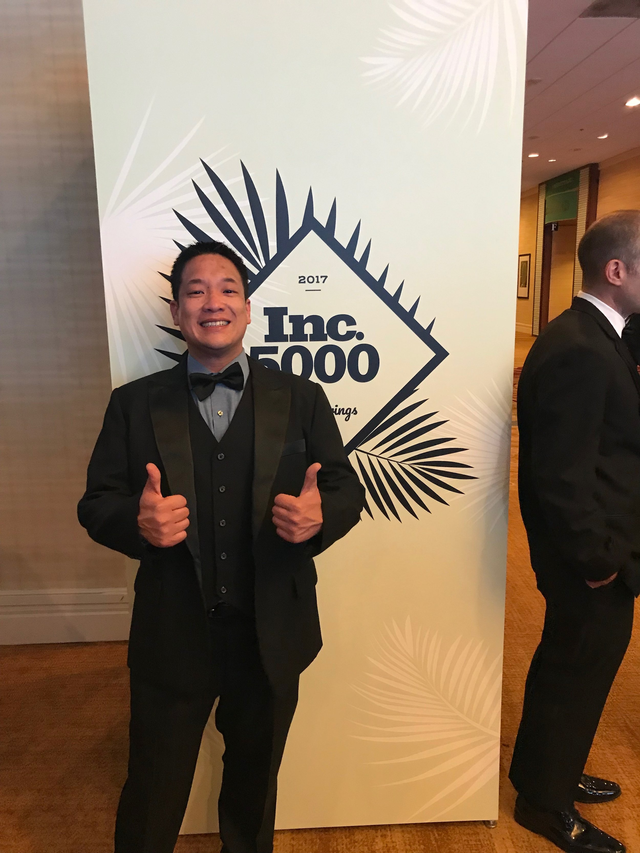 Founding partner Brian Chung was ready to party last year!