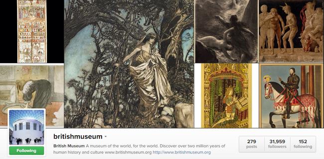 Image: British Museum Instagram feed