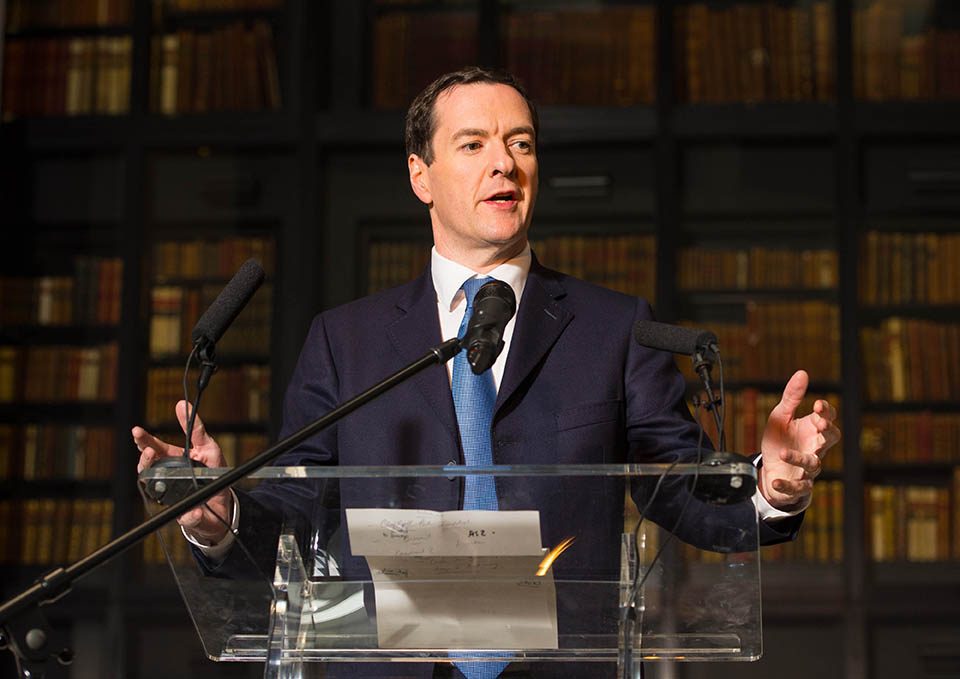 George Osborne launching the Knowledge Quarter at the British Library