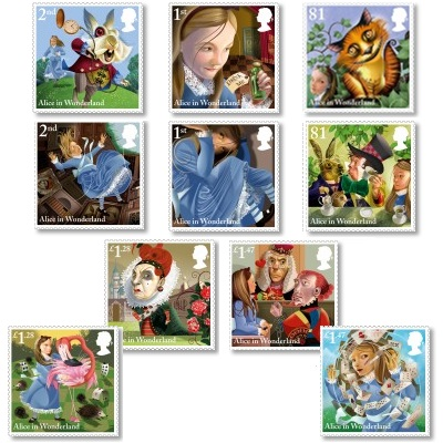 Image: Royal Mail Alice stamps