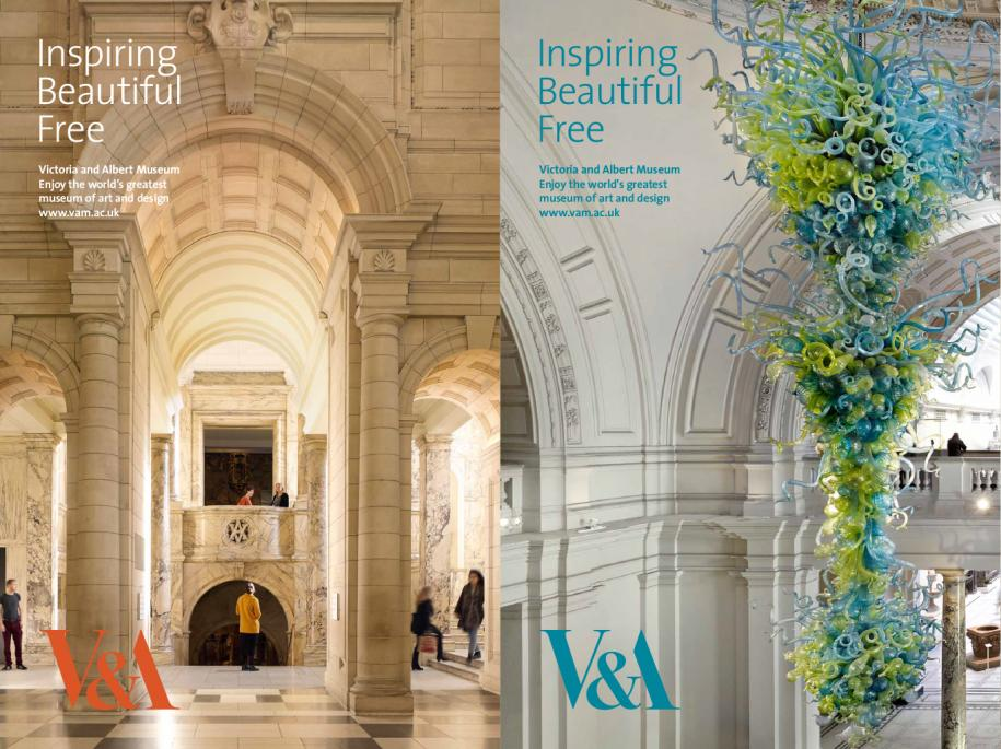 The V&A's 'Inspiring. Beautiful. Free' ad campaign