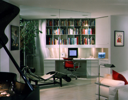 A glass home office in the Watergate