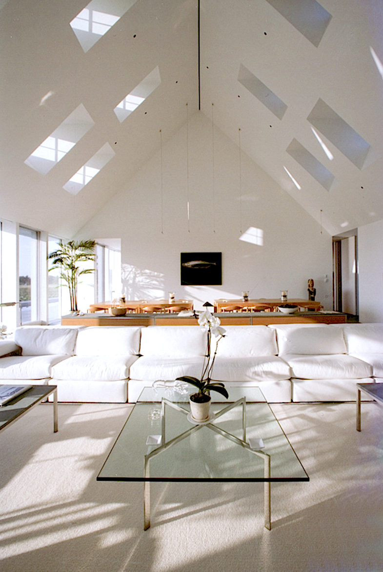 Combined living room and dining room in Maine.