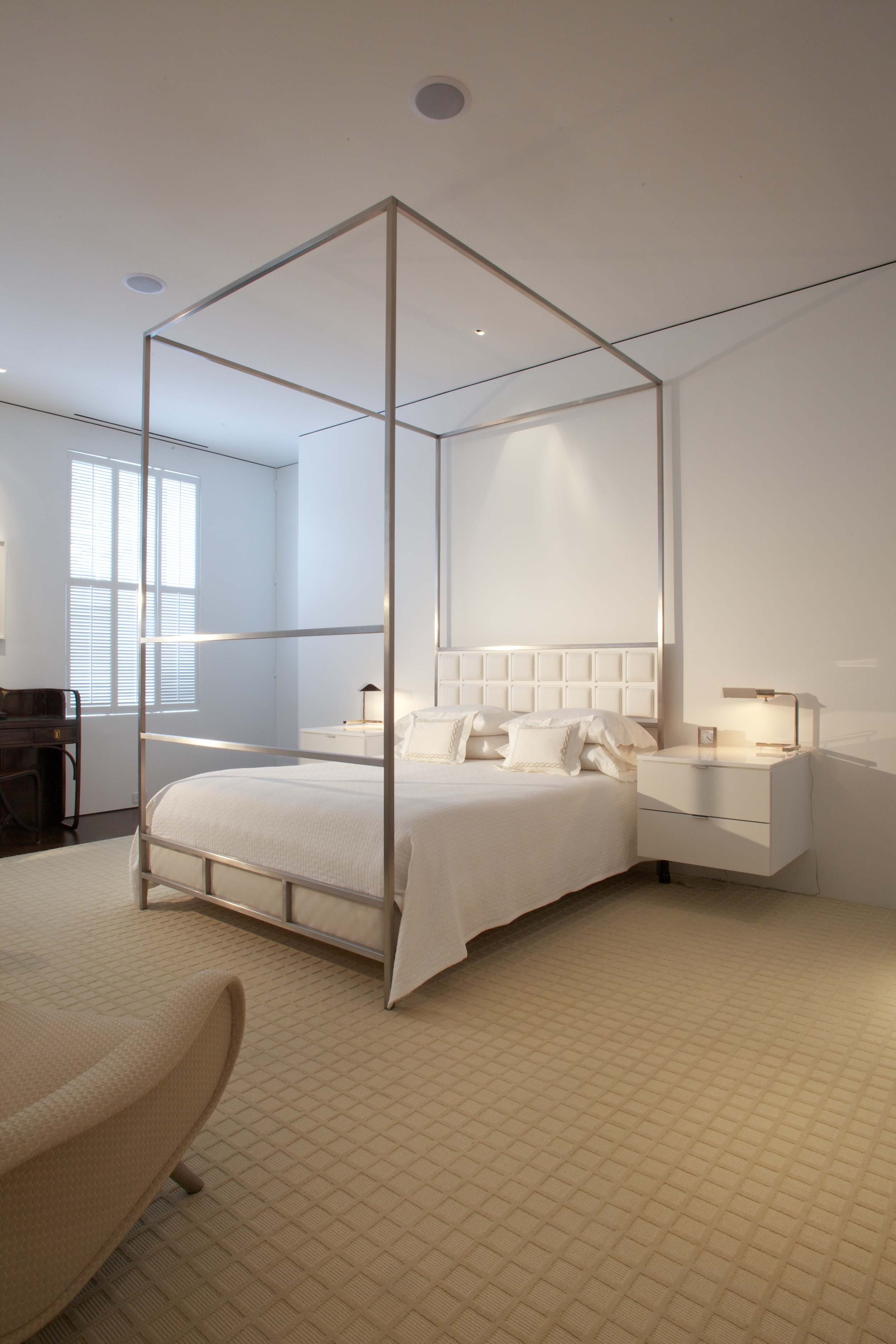 Custom Jacobsen bed and side tables for the master bedroom in Georgetown.