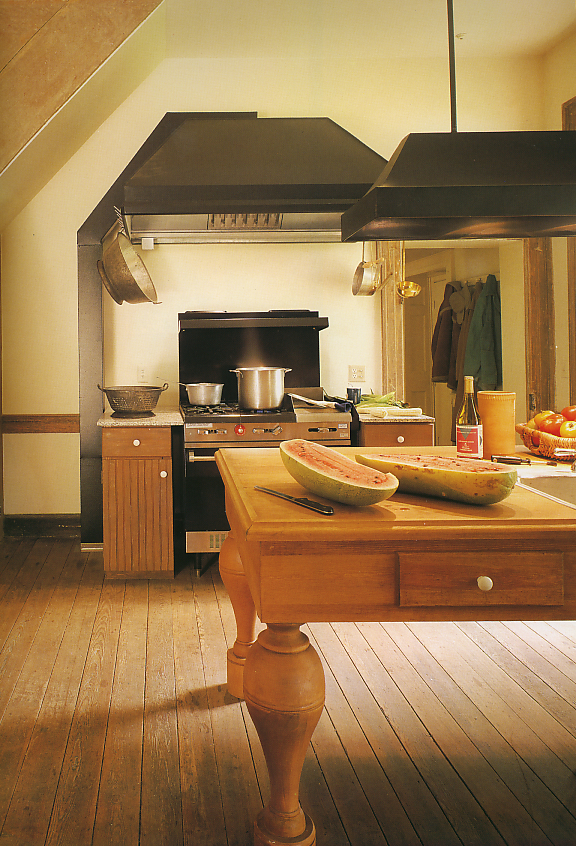 """The historic renovation of """"Piedmont"""" and her kitchen."""