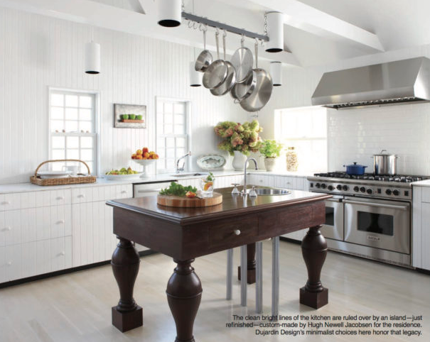 A modern Nantucket culinary workspace
