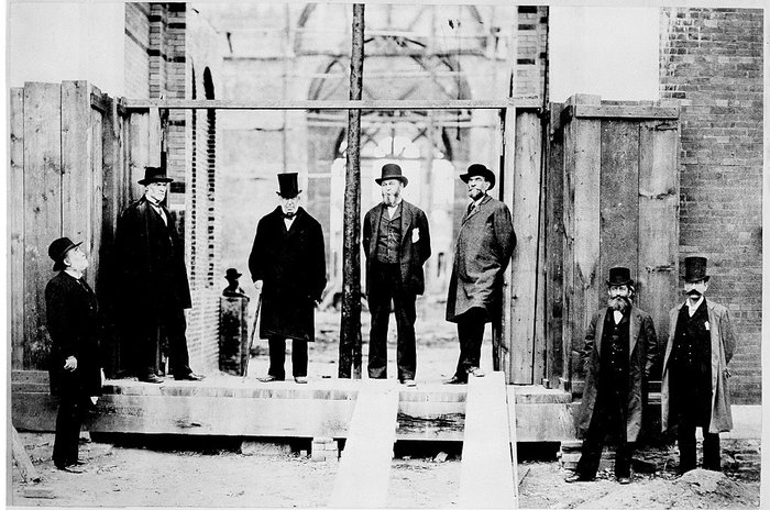 The orginal architect Adolf Cluss seen here second from the right.