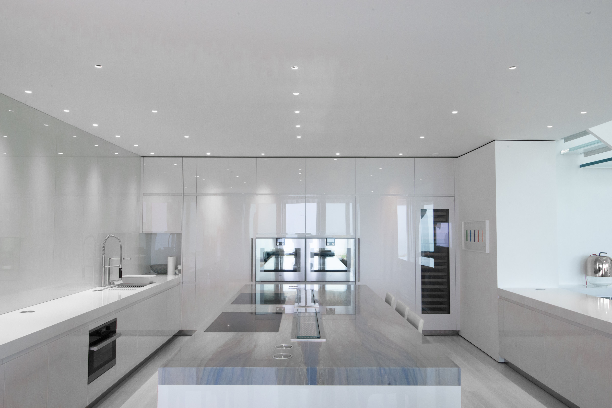 Long, sleek surfaces and ample counter space.