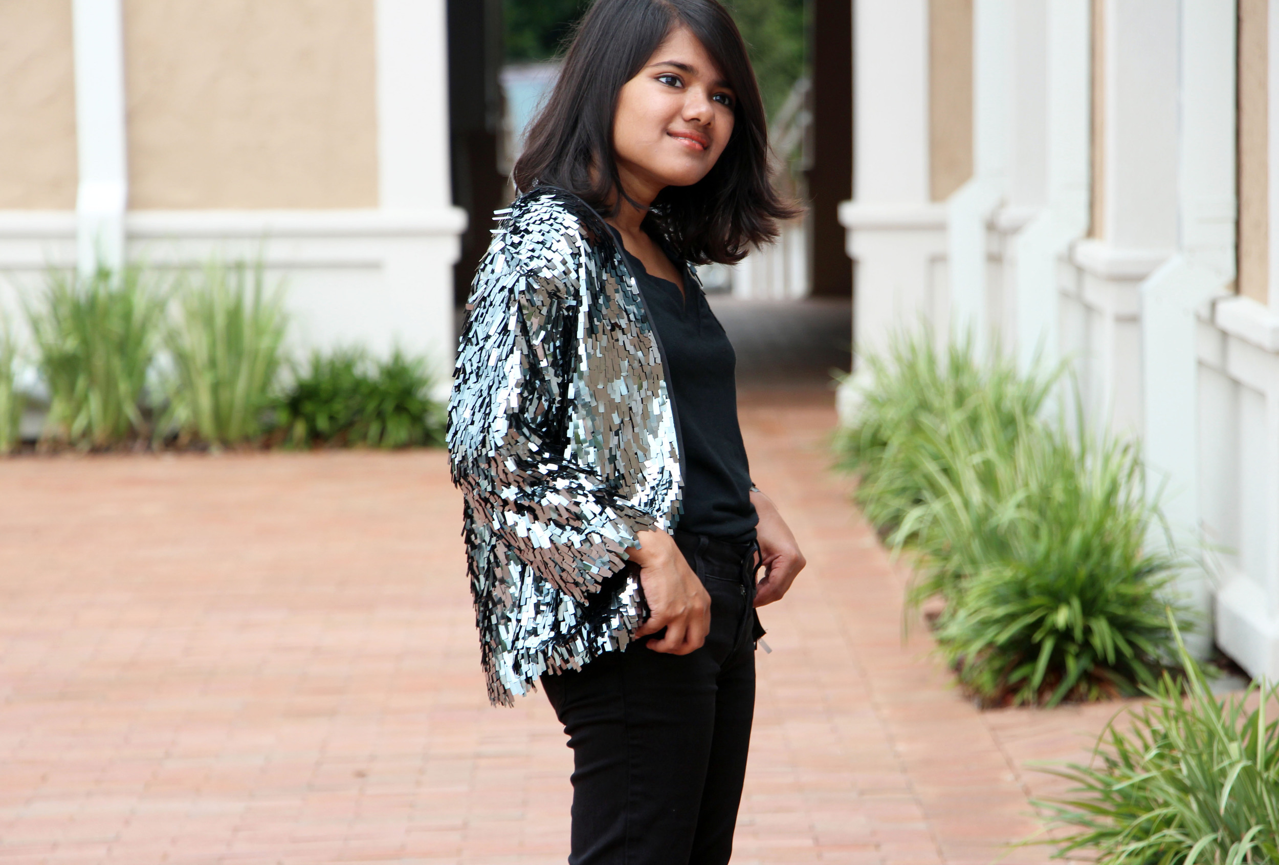 Tom Haverford Loud Formal Sequin Jacket-Treat Yoself-Parks and Rec