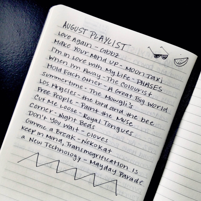 August 2015 Playlist