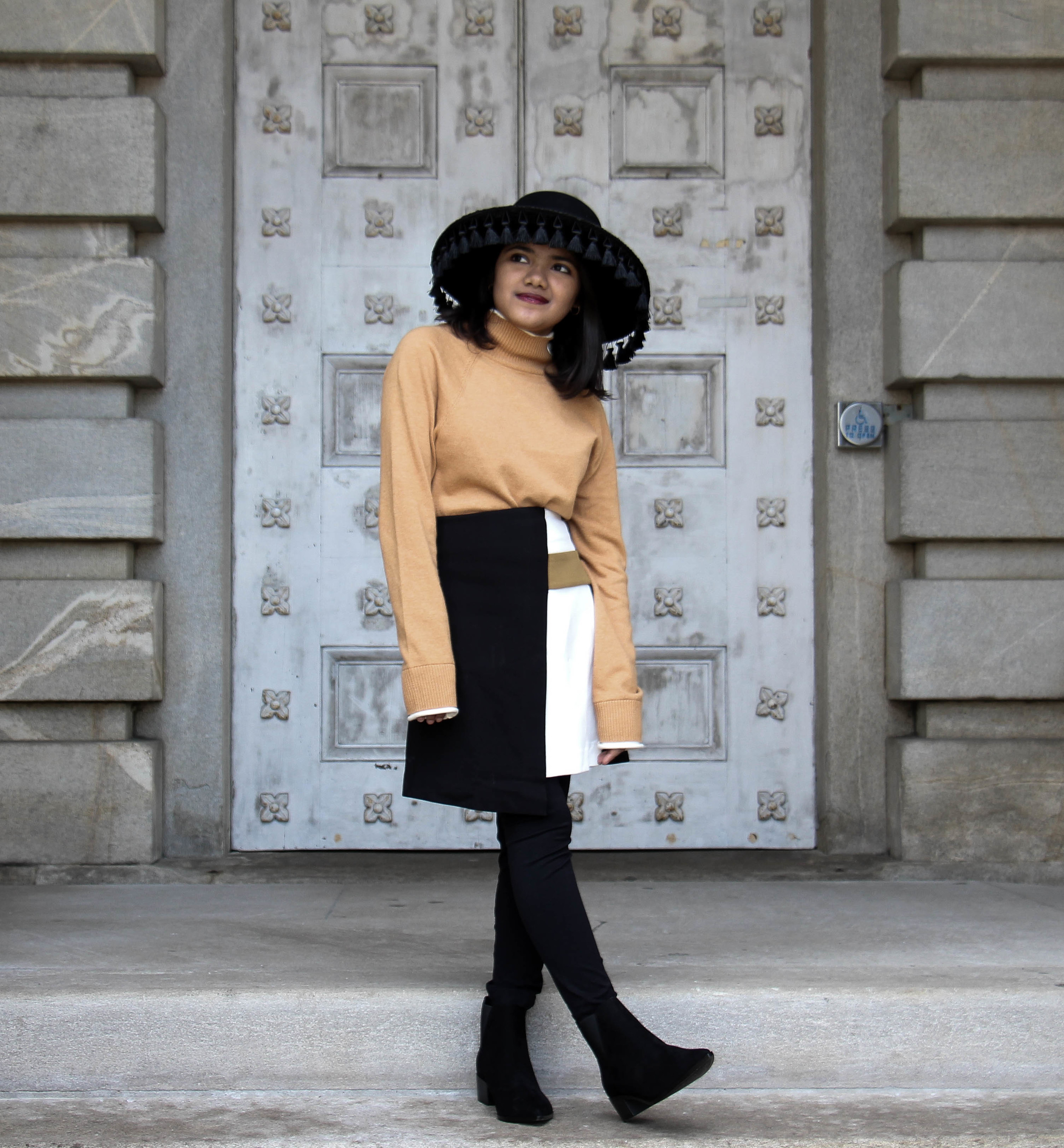 Camel Block Outfit - Forever 21 and Asos