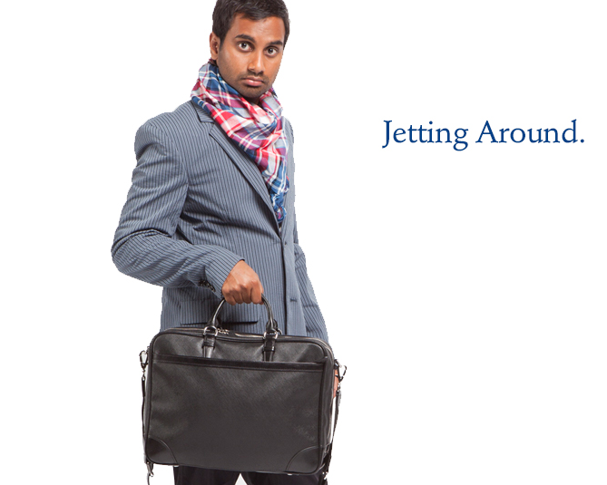 Tom Haverford Rent-A-Swag - Jetting Around
