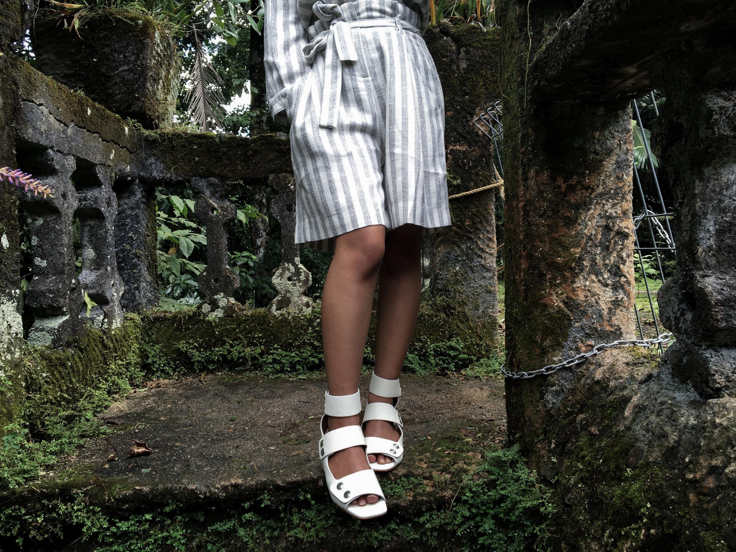 Just Female Gibli Shorts + Zara Boot Style Sandals