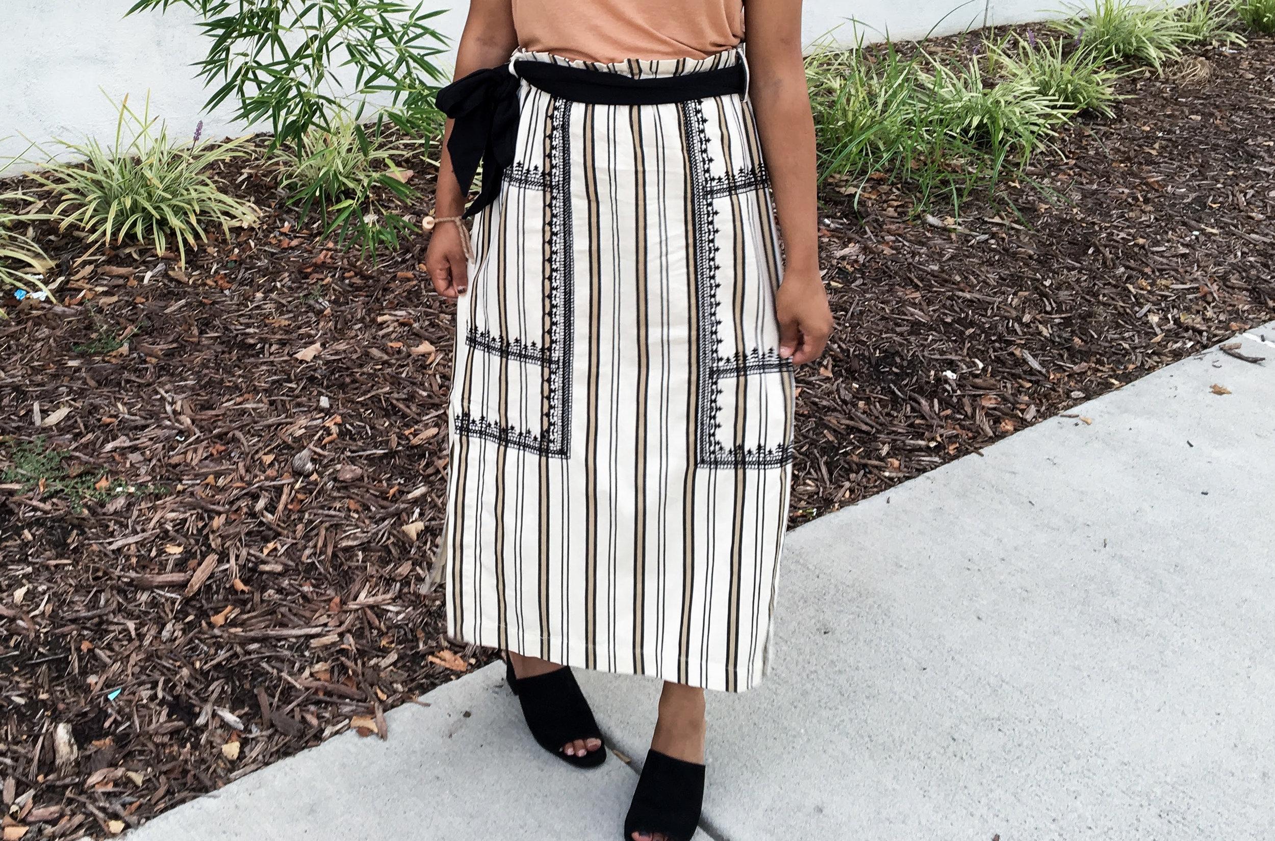 Statement Midi Skirt