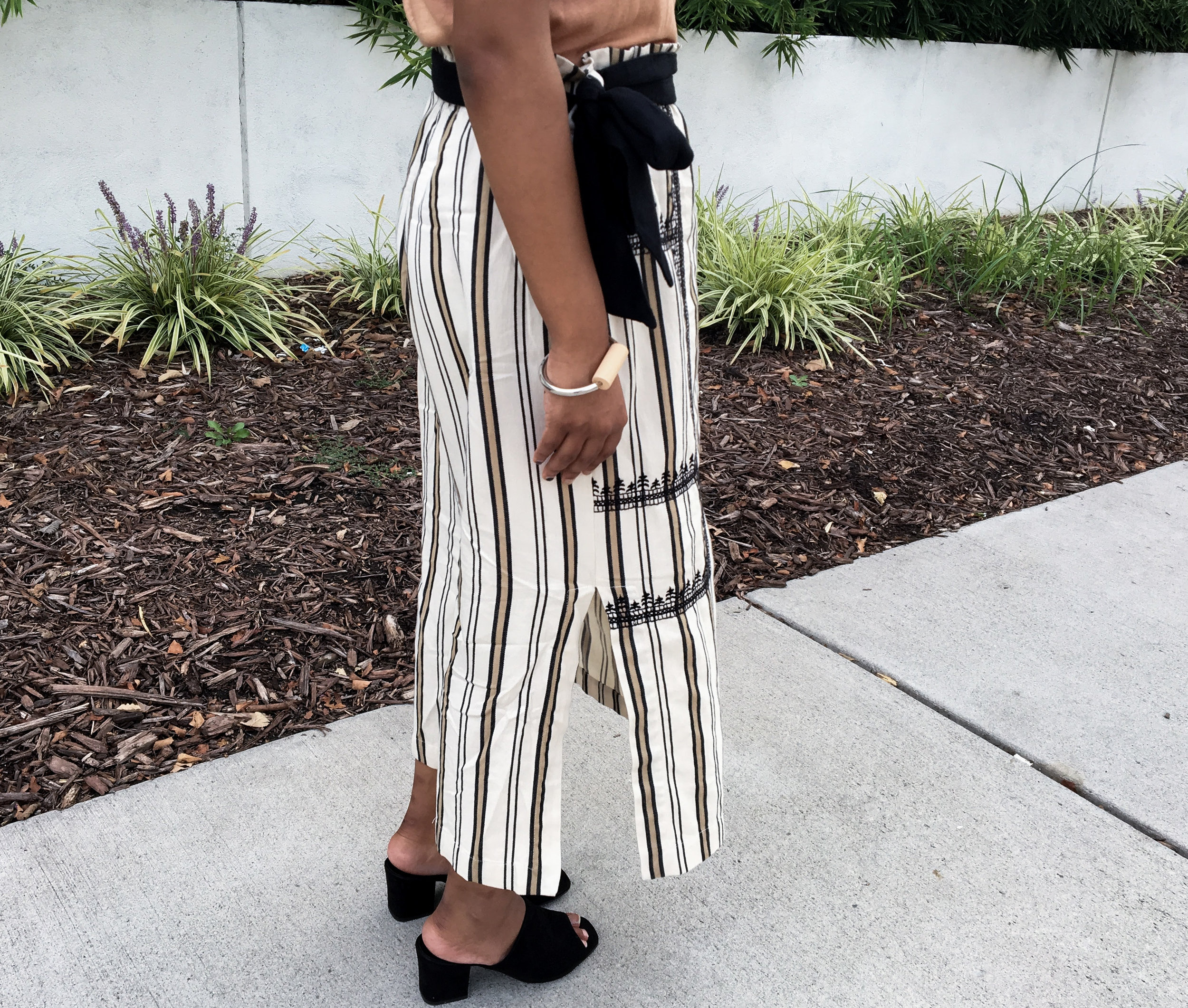 Statement Midi Skirt and Charles Keith Suede Mules