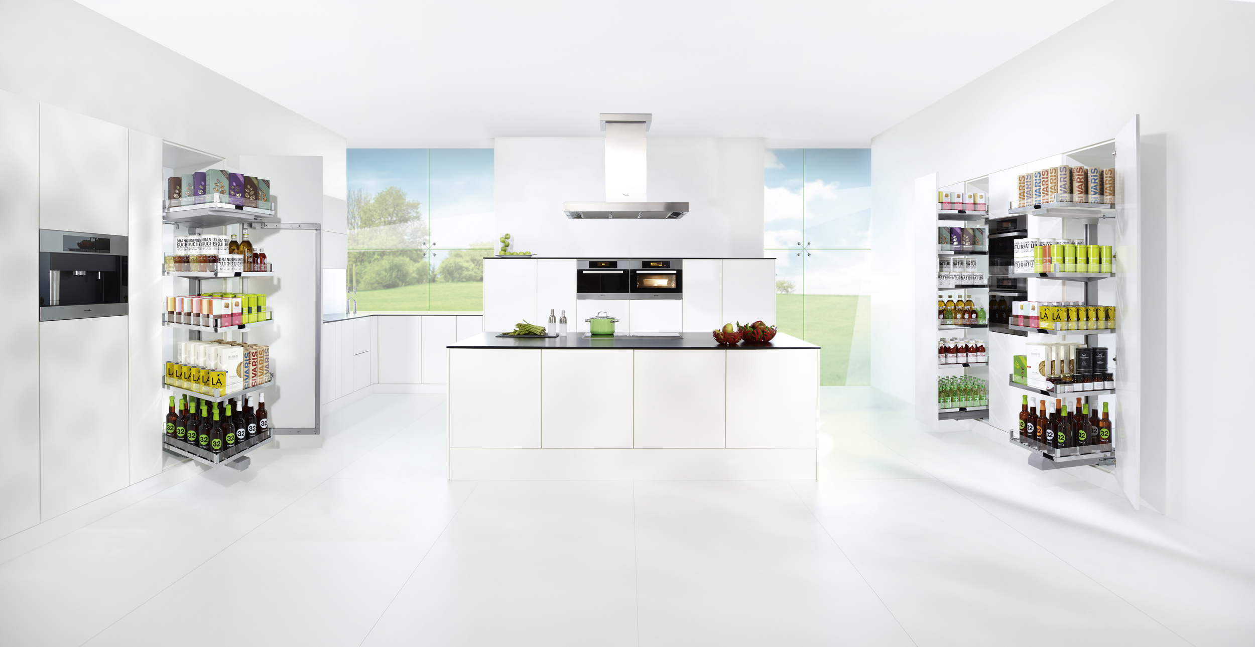Extremely flexible and very good looking.  The CONVOY Lavido highlights the versatility of the whole CONVOY family. Lavido moves independently of the door so that it can be used effectively in varying cabinet designs, including sliding doors.  This tall pullout is an elegant storage solution not only for contemporary kitchens, but also for dining rooms or offices.