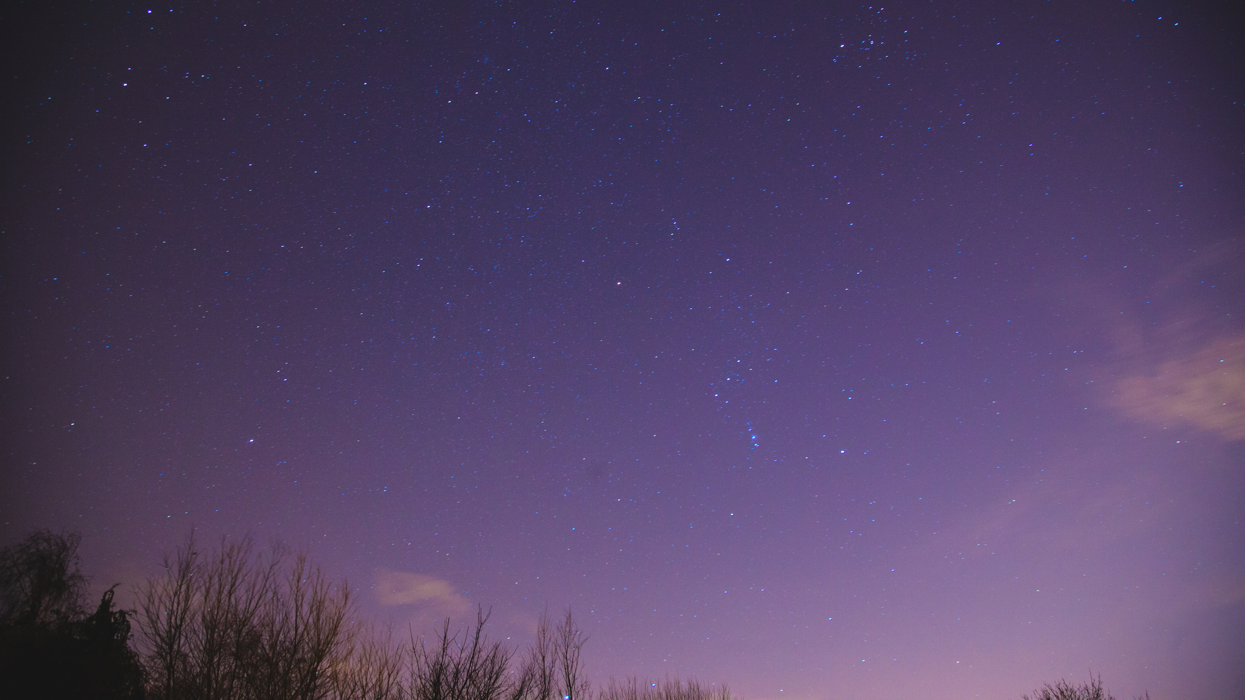 One of my first attempts, testing exposure length and ISO. Shot at F4, ISO 640, 30 Seconds.