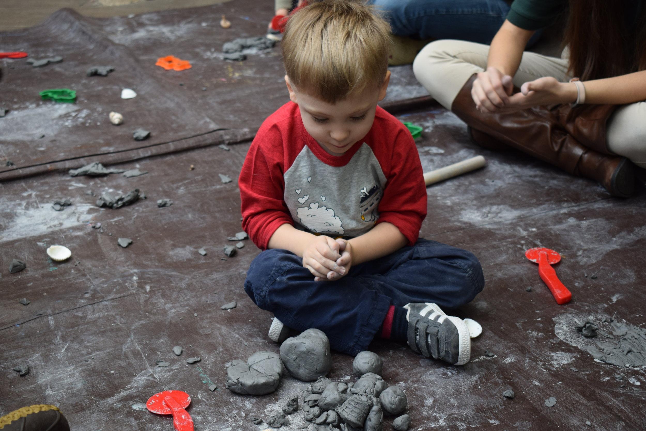 We smooshed clay