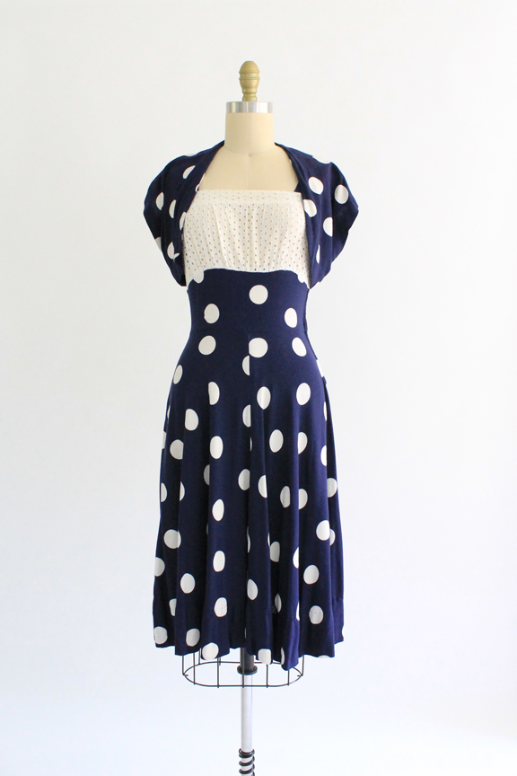 vintage 1930s polka dot sundress