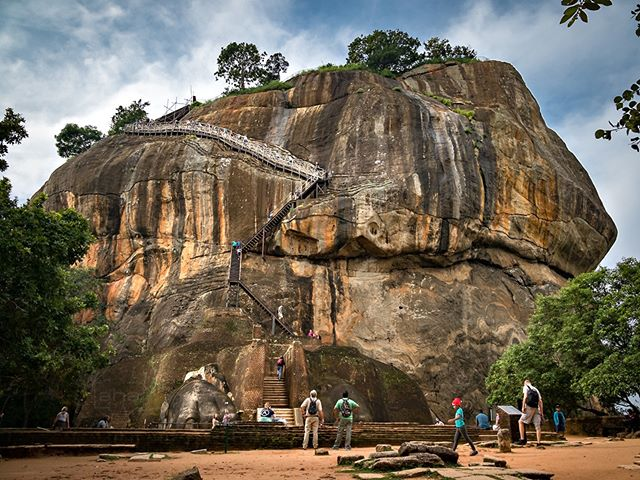 One step closer to the top of THE ROCK - Sigiriya! #Sigiriya is a humongous monolithic rock #fortress surrounded by an enchanted garden that was developed 2000 years ago. It is also a #UNESCO World Heritage Site in the cultural heart of #SriLanka