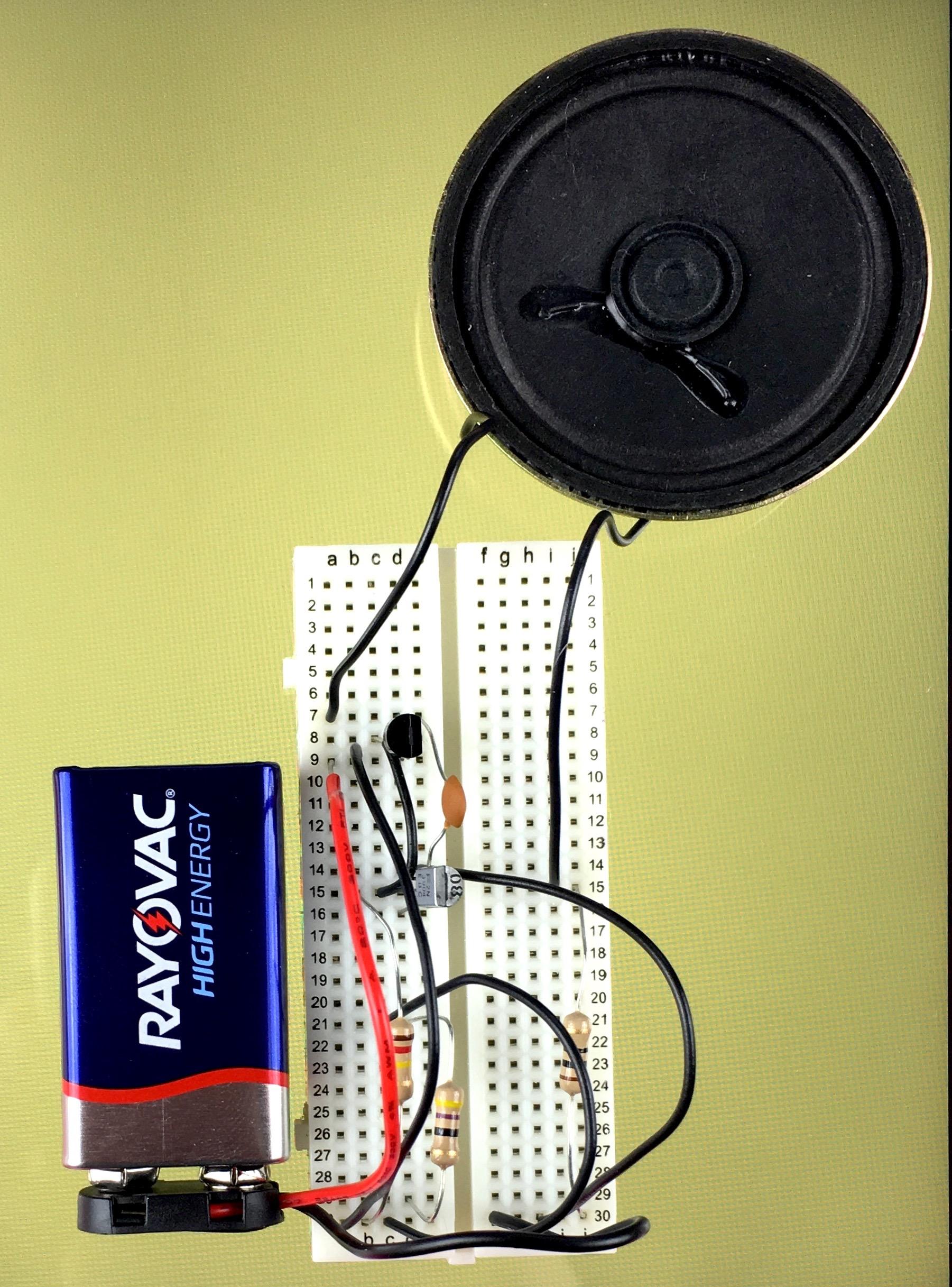 The Basics Lab 14 - 2 Transistor oscillator