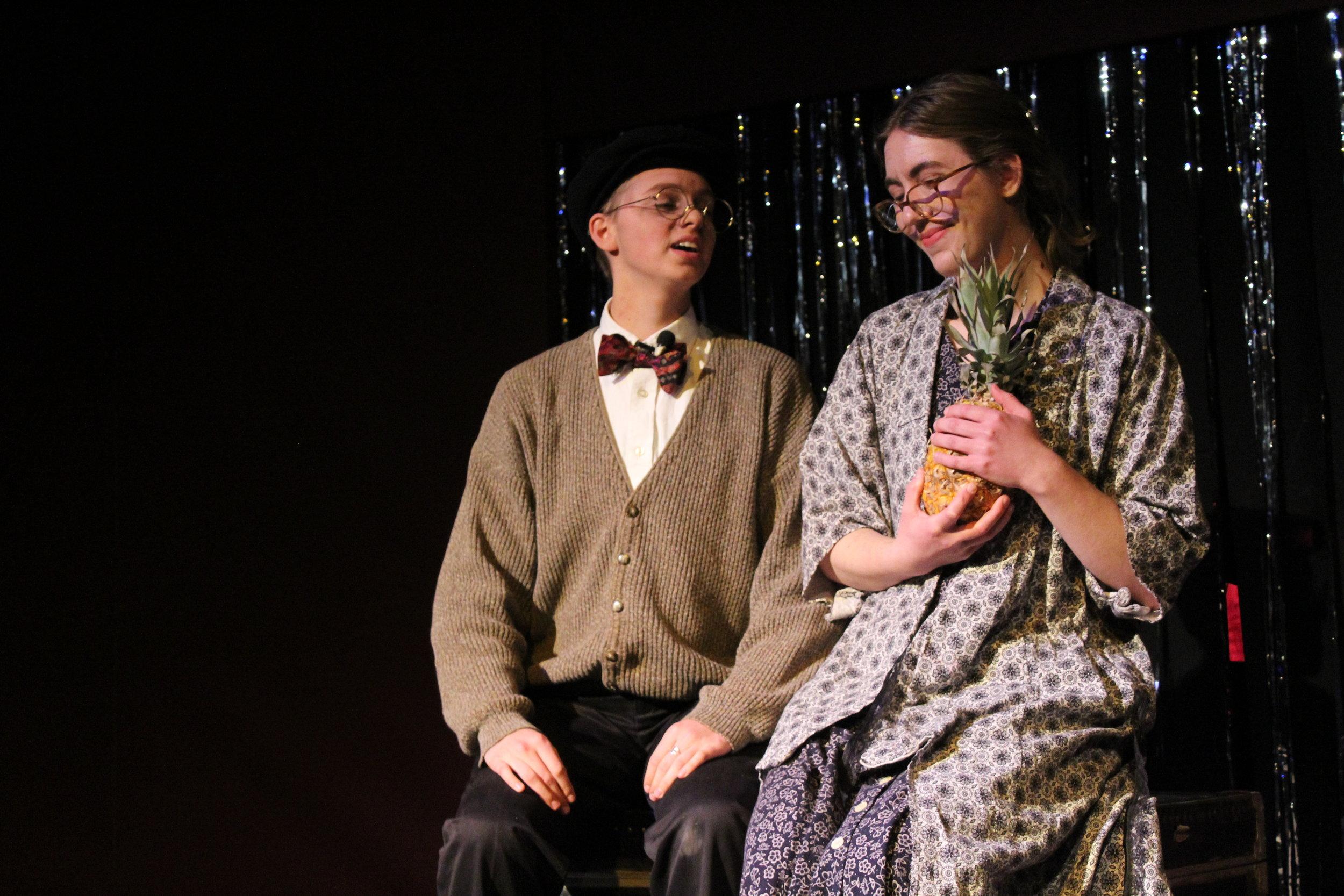 """Finn Scharen (Herr Shultz) & Sarah Erickson (Fraulein Kost) sing """"It Couldn't Please Me More (The Pineapple Song)"""""""