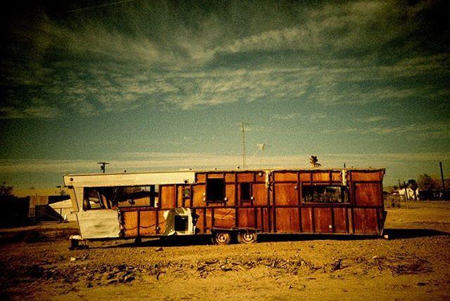 Salton Sea.  #lomolca #analogphotography #35mm #crossprocess #filmsnotdead #saltonsea #abandonedplaces #dilapidated #abandonedamerica #analog #analogue #neverstopexploring #traveladdict #adventureawaits #ladiesadventure #filmphotography #lomo #lomography #lomofilm