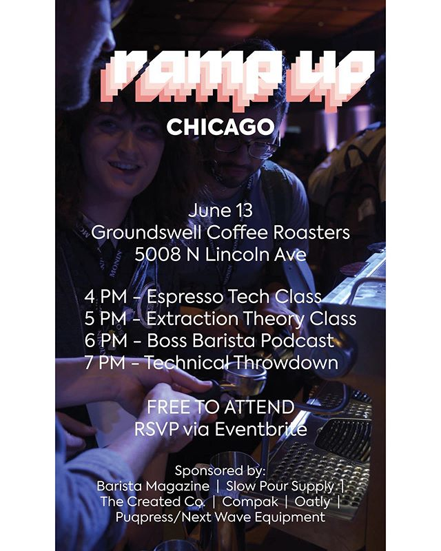 Are you ready to... RAMP... IT... UP! @rancilio.usa is kicking off their Ramp Up tour here in Chicago at @groundswellcoffee next Thursday, 6/13!  Are you ready for an afternoon filled with classes, a @bossbaristapodcast, and don't forget a throwdown!  Free to attend just make sure to RSVP at the link in our profile. $10 to complete with registration now open at the same link. How. Bout. That.