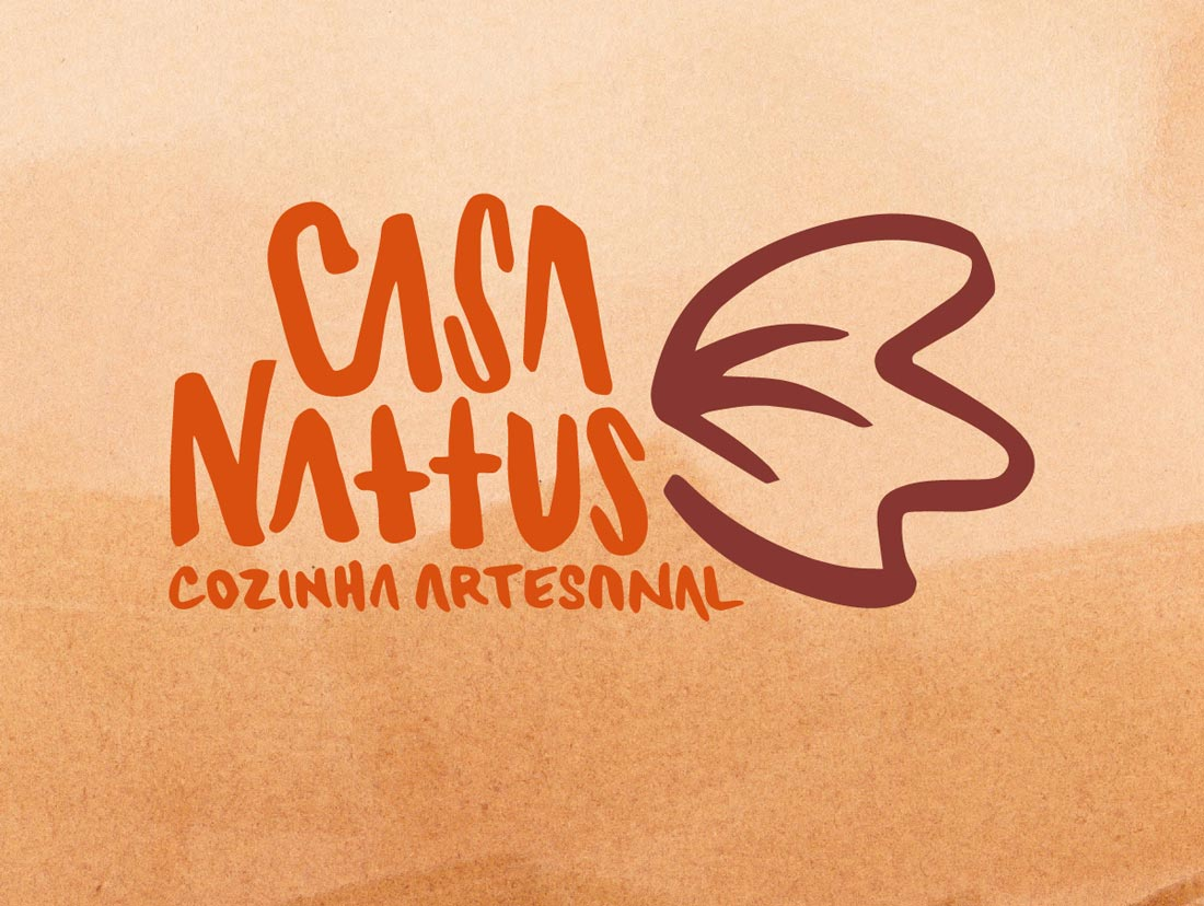 Visual Identity for Casa Nattus, health food restaurant on in São Paulo, Brazil. 2018.