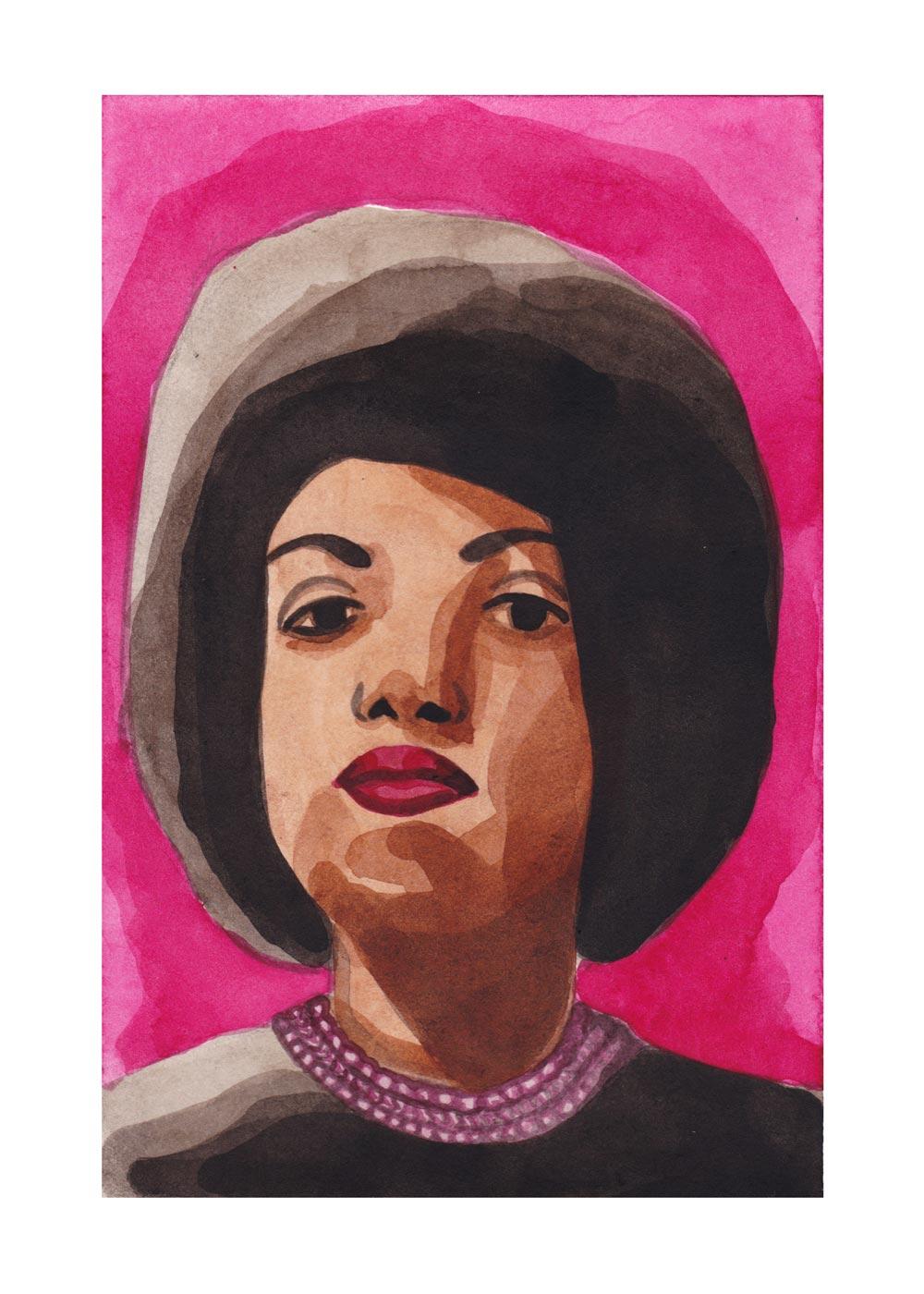 Alline Guerreira Negra . Acrylic ink. 2018.