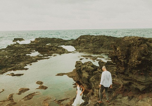 After shooting at two locations we ended up at our third and caught the sunset with a magical blue hour with the tide pools reflecting it all! This is one of my favorite locations ever! . . . . . . . . #mauiphotographer  #newzealandphotographer  #kauaiphotographer  #oahuphotographer  #mauiweddingphotographer  #hawaiiweddingphotographers  #mauicouplesphotographer  #mauicouple  #hanaleiwedding