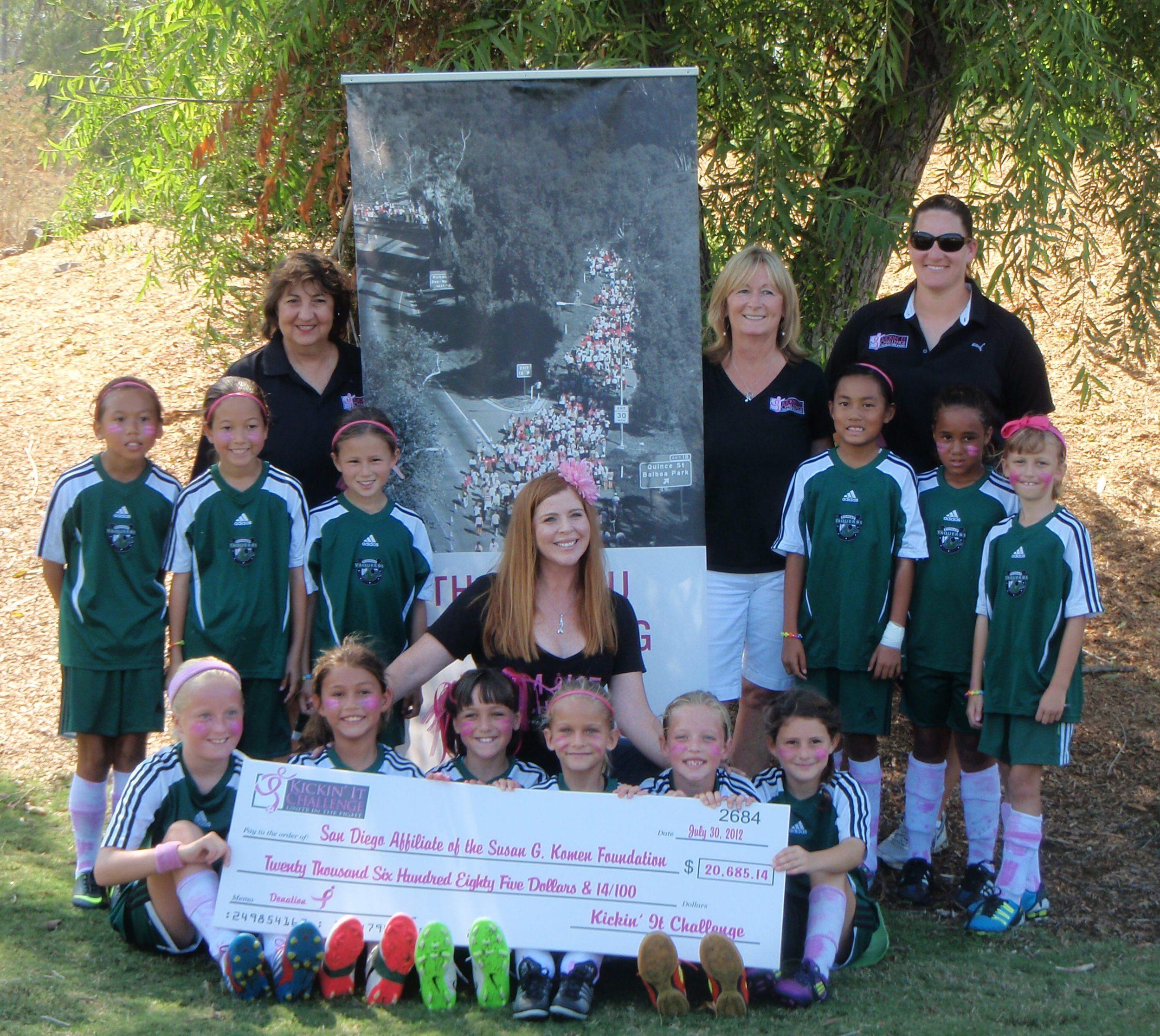 Inaugural tournament's donation to Komen in 2012
