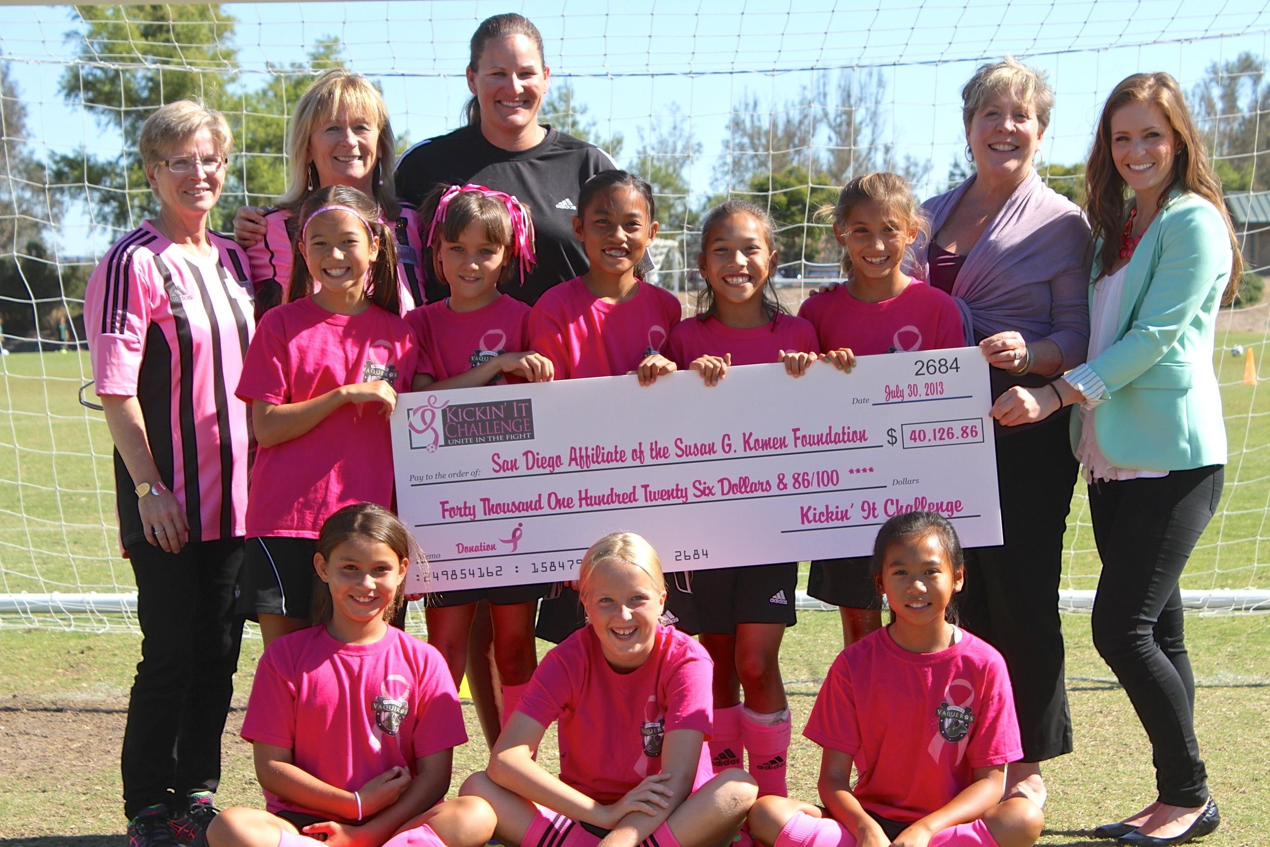 2013 tournament's donation.