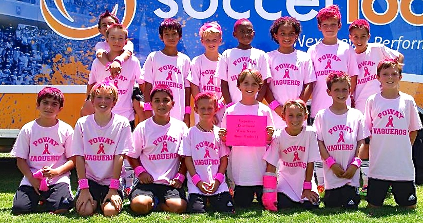 2014 Power of Pink Honorable Mention, BU11 Poway Vaqueros