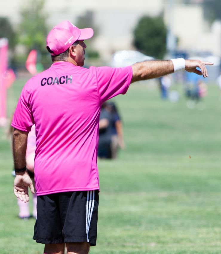2013 - Poway Vaqueros Coach John Carnaroli captured coaching at the Kickin' It Challenge by the 92064 Magazine.   photo credit: 92064 Magazine
