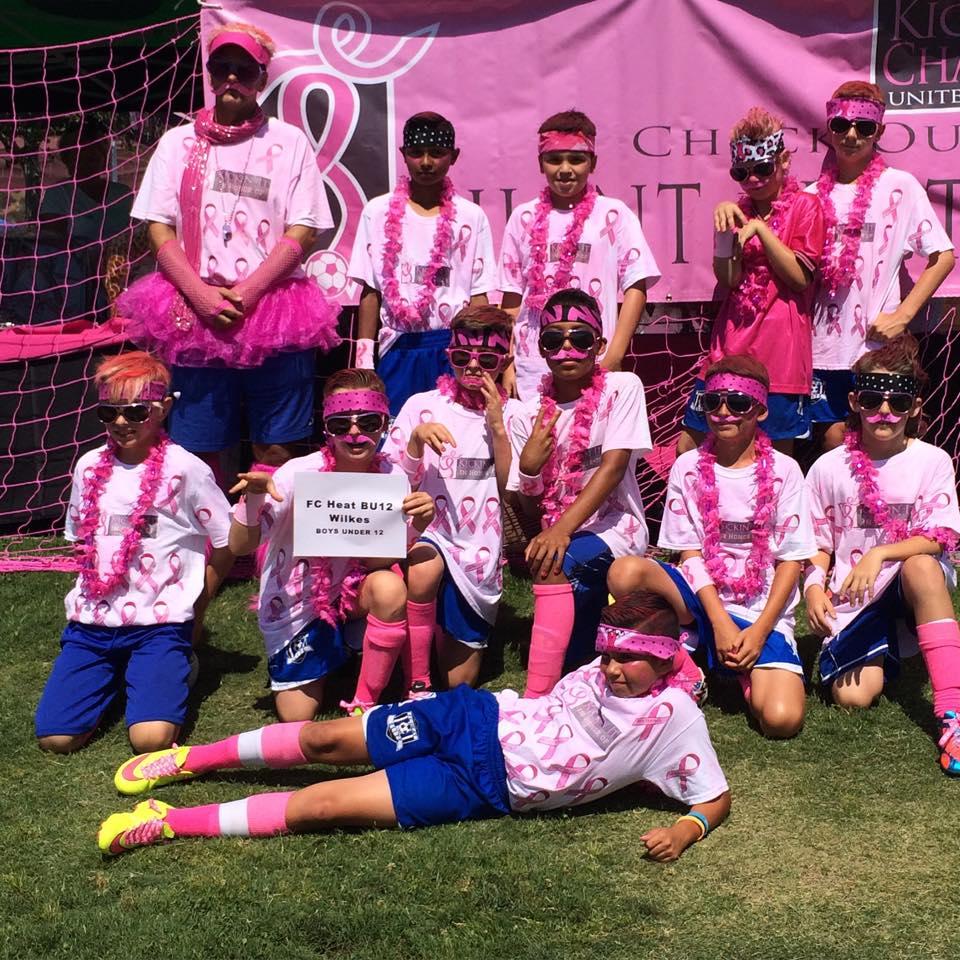 2015 Power of Pink Winner, BU12 FC Heat