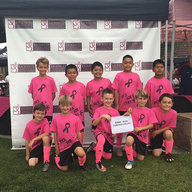 B08 Fallbrook Villa FC showing their pink spirit. #kickinitchal