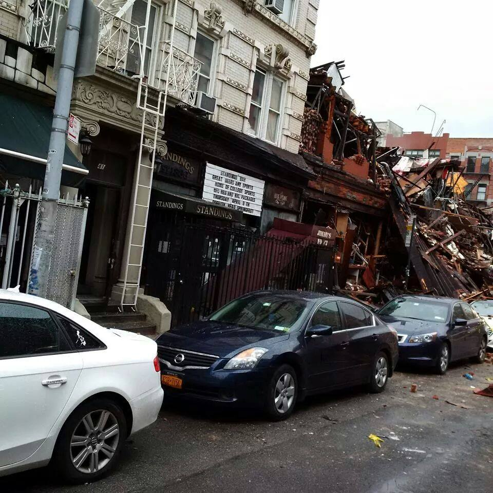 Another view of the devastation the day after the explosion. (Photo by Jimmy Carbone)