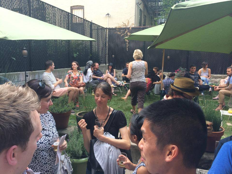 Covenhoven has the best backyard for drinking beer. Here the crowd mingles to discuss their favorites at last year's event in August, 2014.