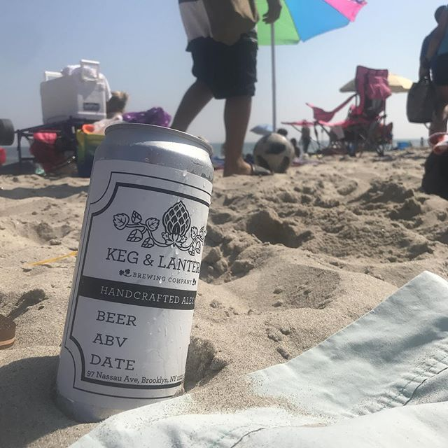 Nothing like a crowler of fresh beer from @kegandlantern on the beach on a hot summer day!