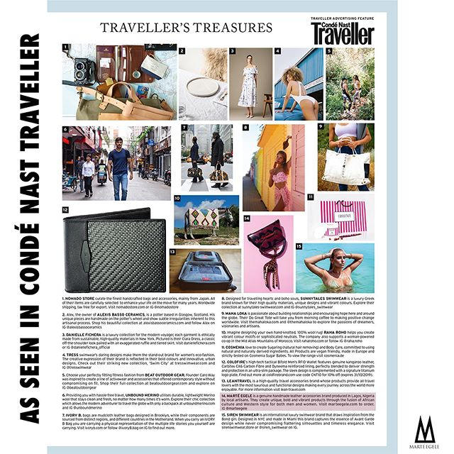 What's a Monday without some Press? Our Ese mini was featured in November's edition of @condenasttraveller magazine! Swipe left for a close up look! Now available to shop online! #LoveMarte #condenasttraveler #condenast