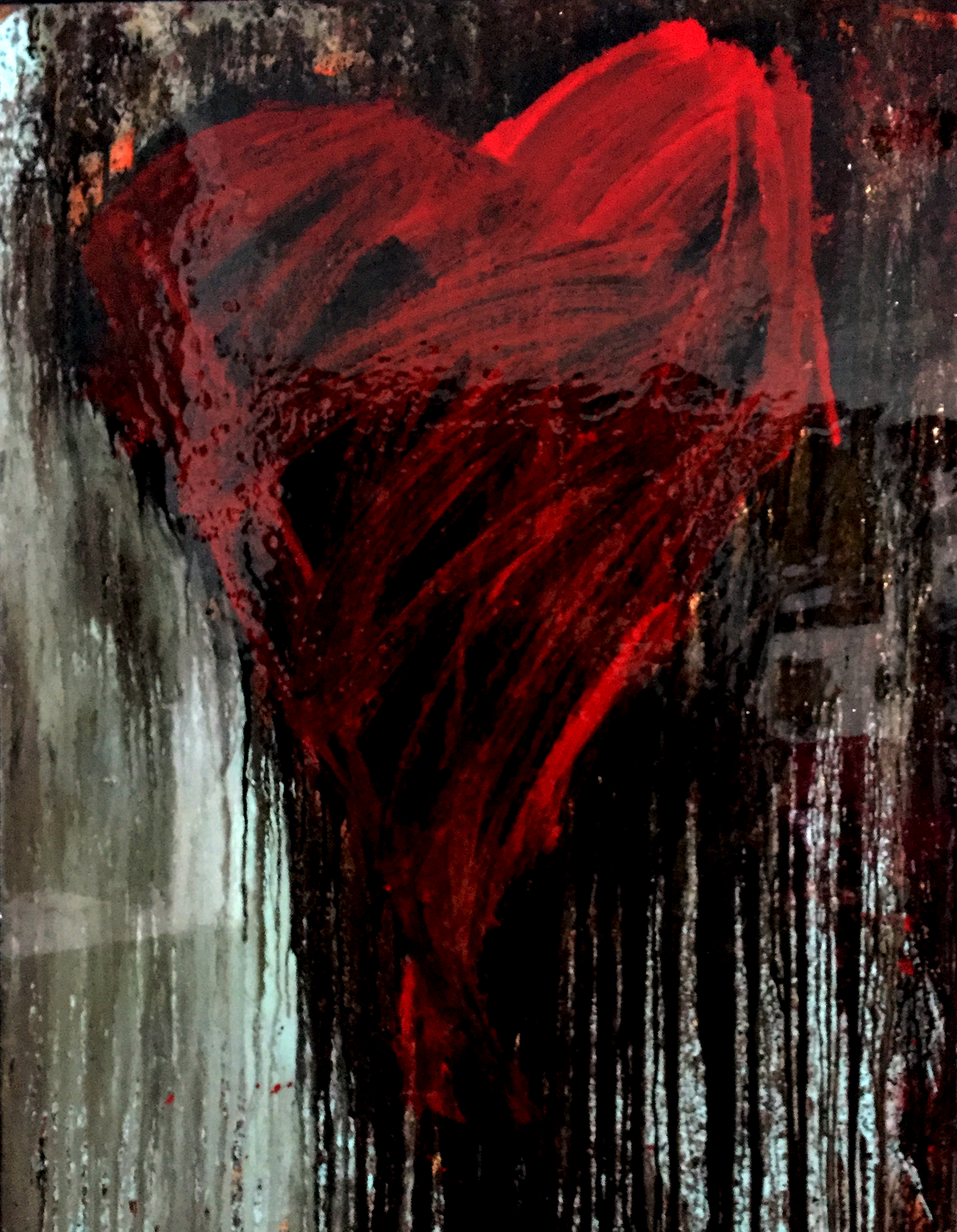 """PASSION HEART  48""""x36"""""""