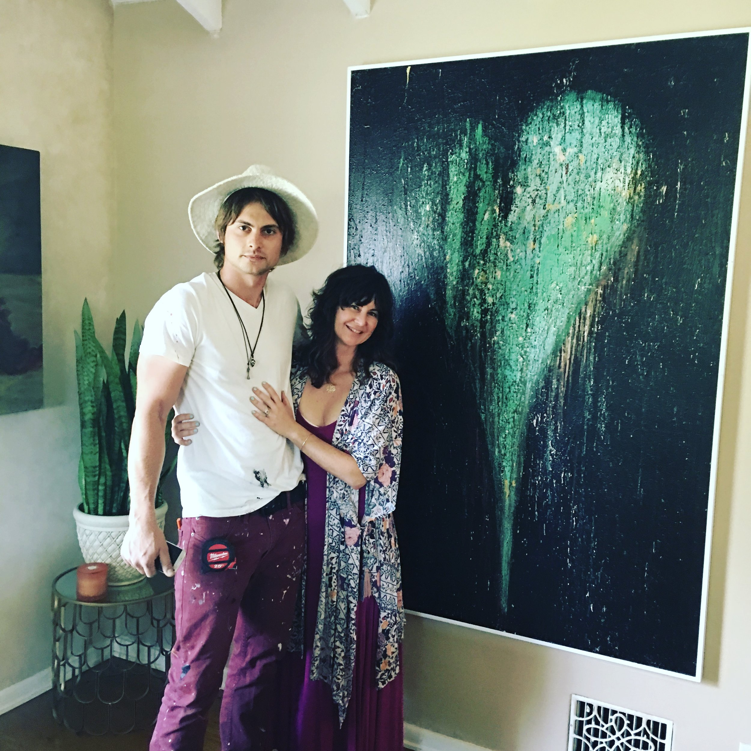 Our Realtor Kelsea  Mazzocco buying art