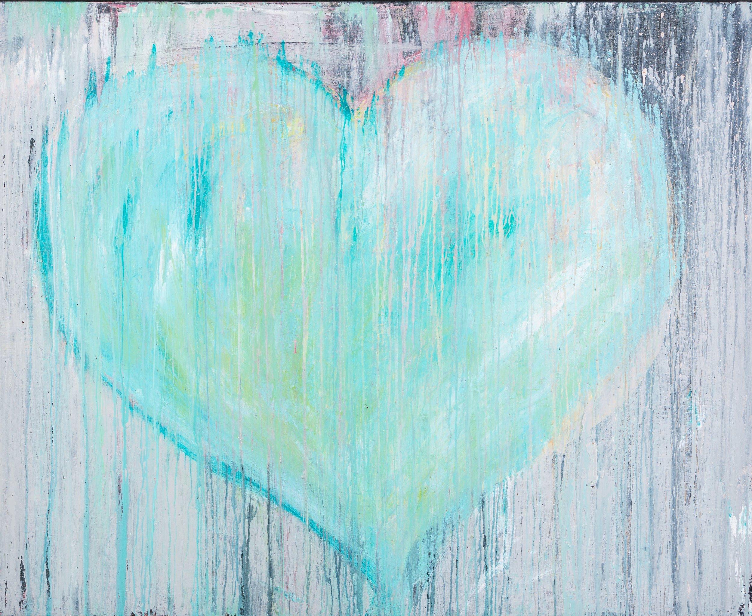 """BLUE HEART  48""""x 60"""""""